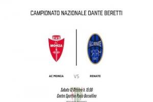 Ausonia ospita in casa le gare di Berretti e Under 14 del Monza